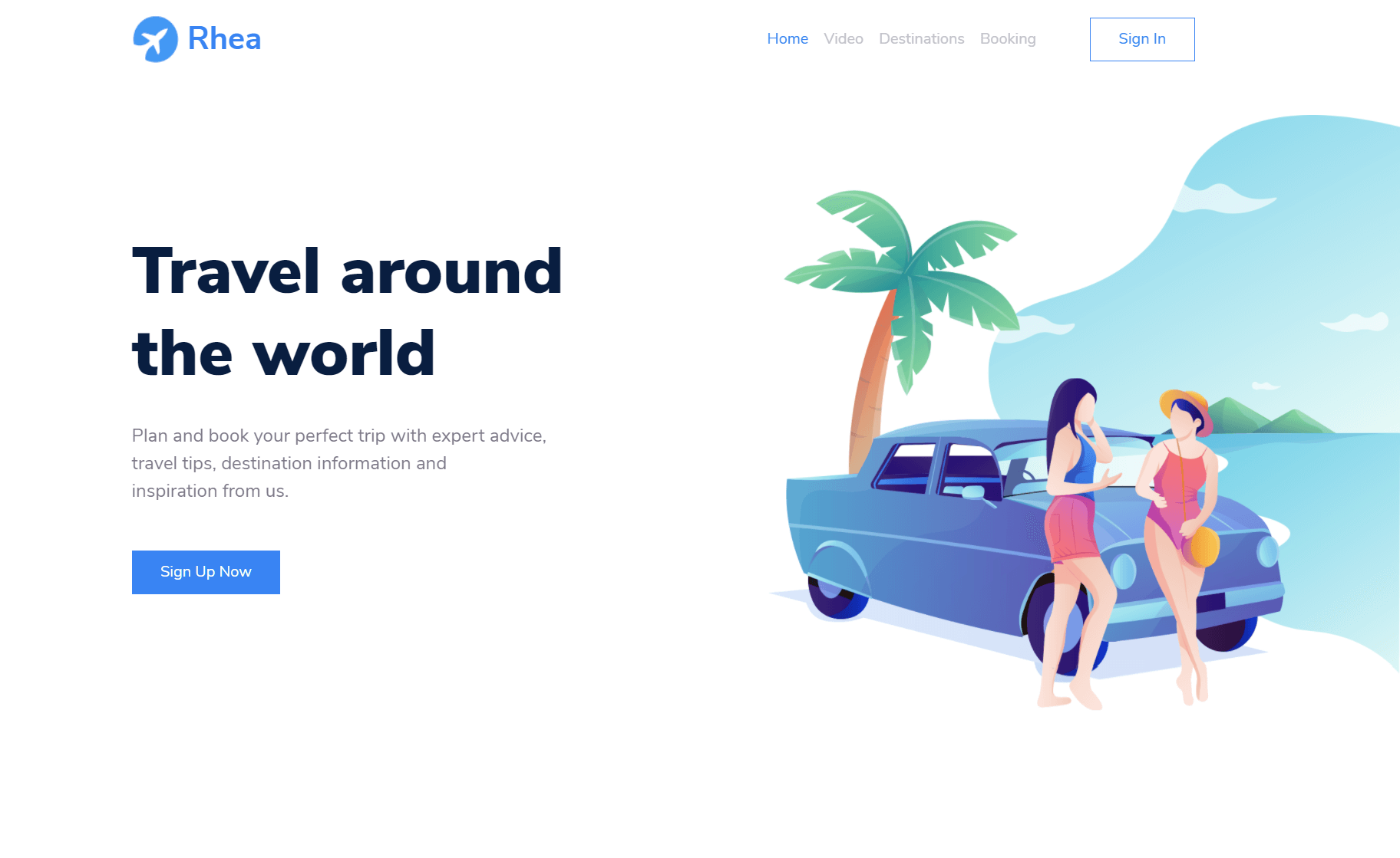 Free Bootstrap 5 HTML5 Traveling Landing Page Template