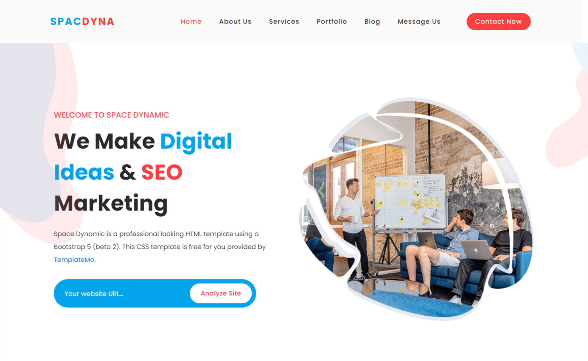 Free Bootstrap 5 digital marketing template