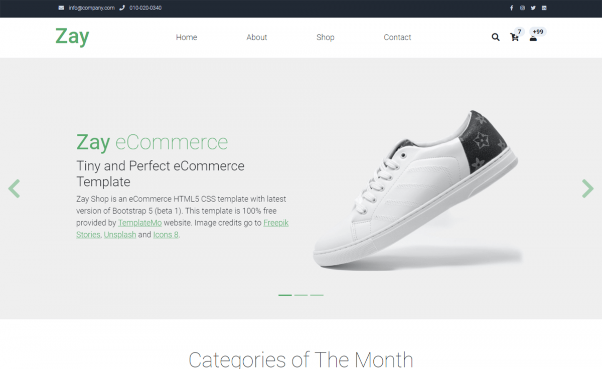Free Bootstrap 5 HTML5 Ecommerce Website Template