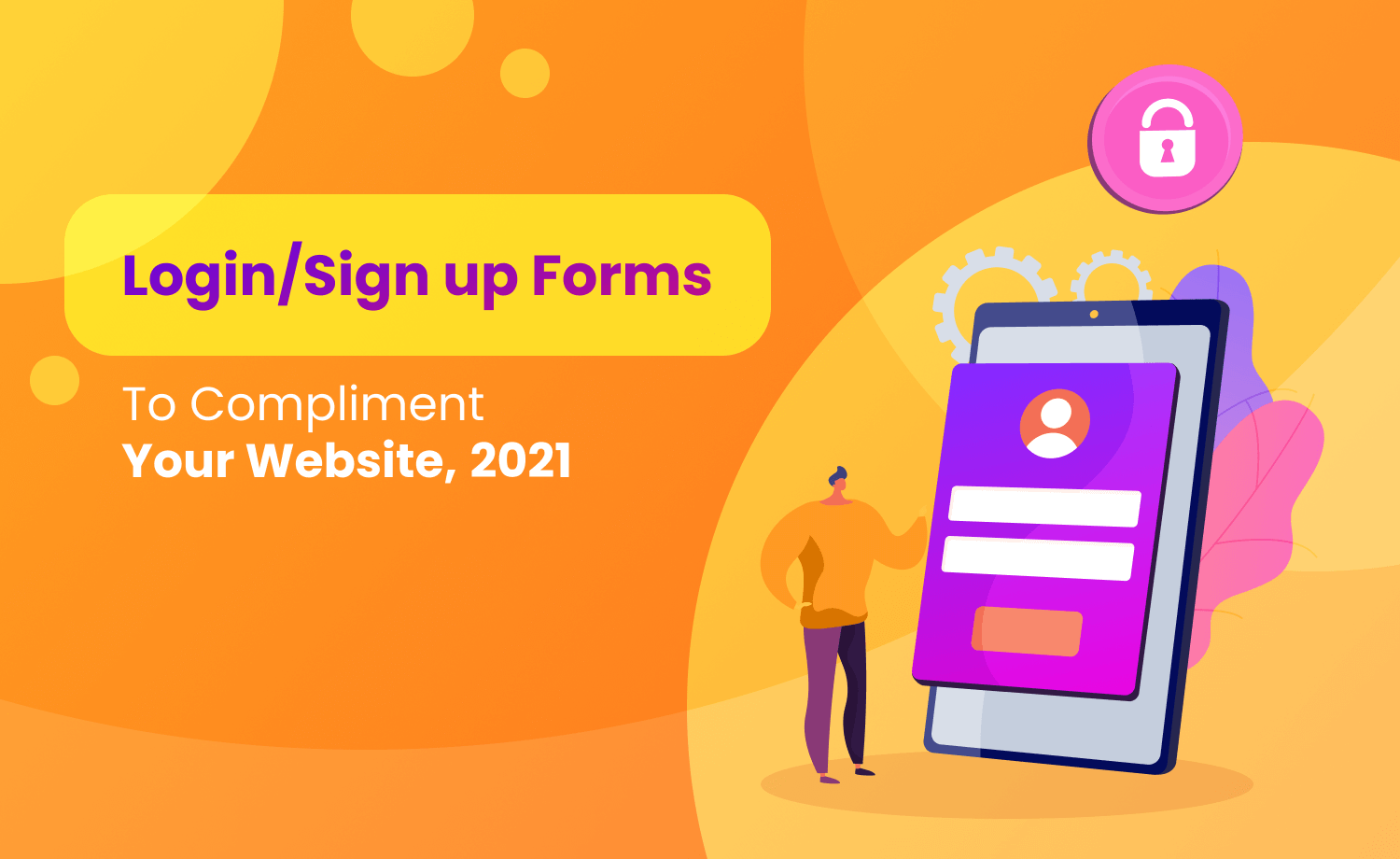 Login/Sign up Form To Compliment Your Website