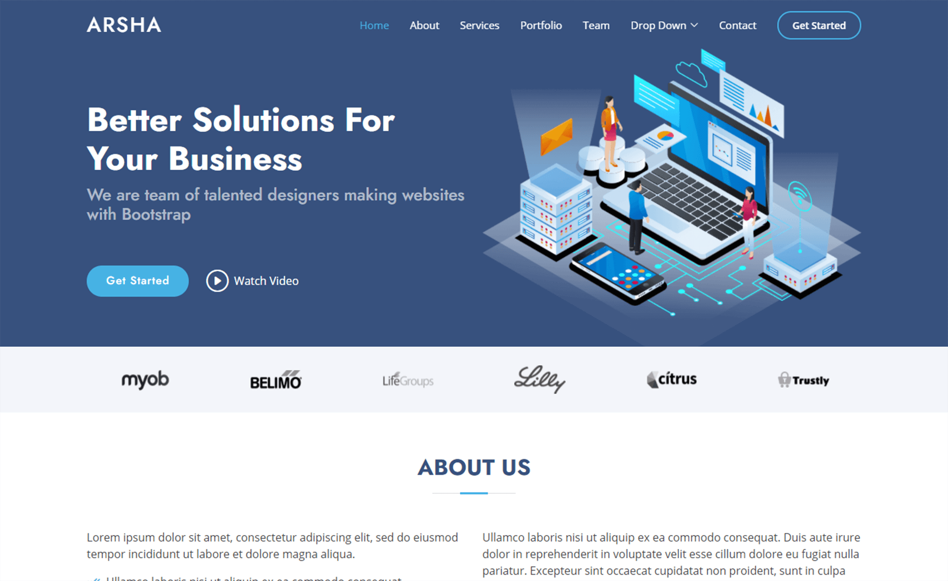 Free Bootstrap 5 HTML5 Business Website Template