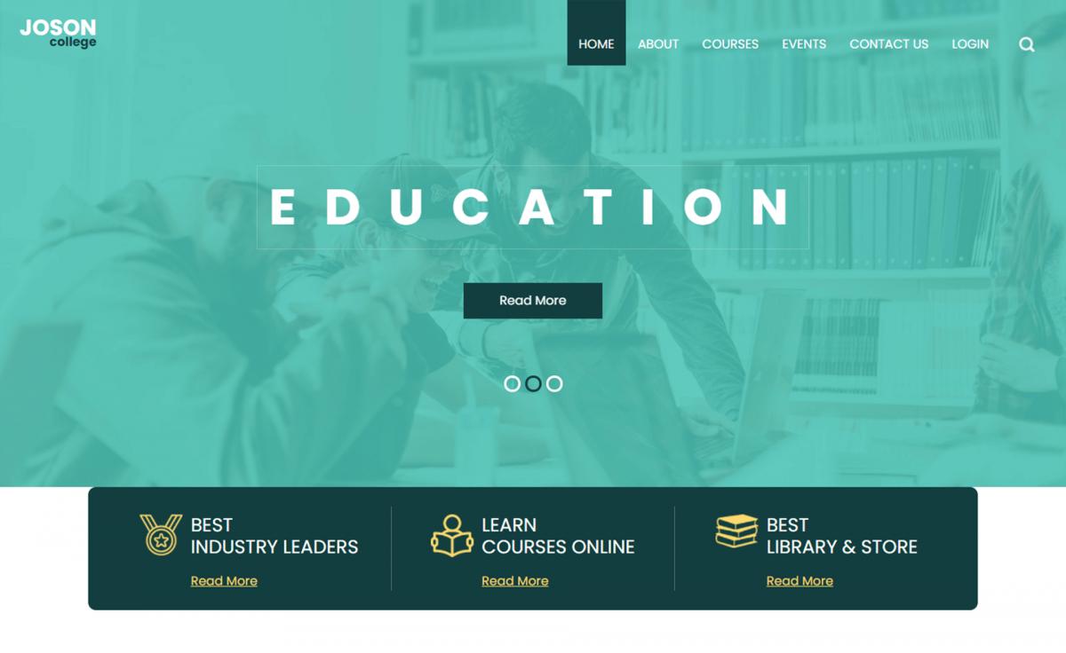 Joson - Free Bootstrap 4 HTML5 Education Website Template