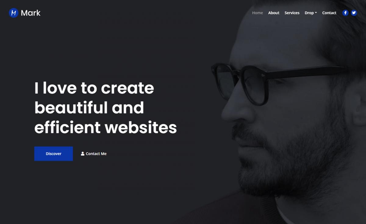 Free Bootstrap 4 HTML5 personal portfolio website template