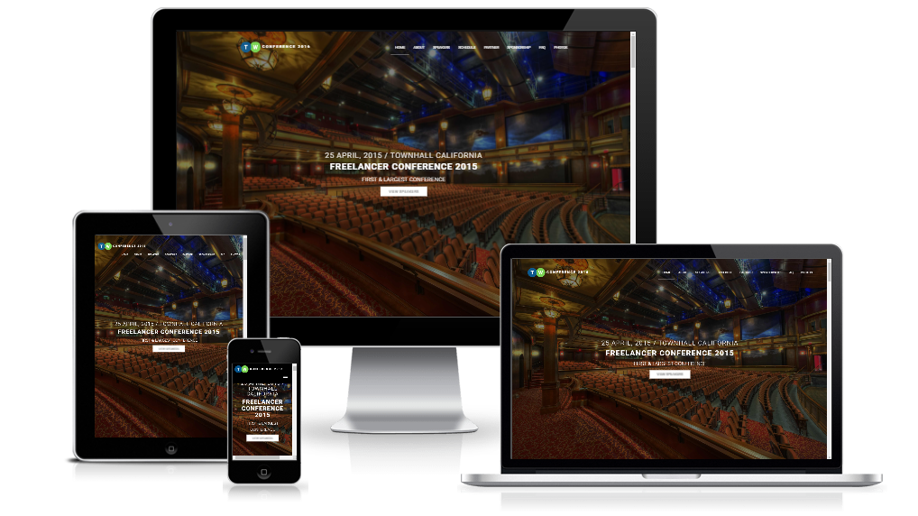 conference lite - a free responsive event template