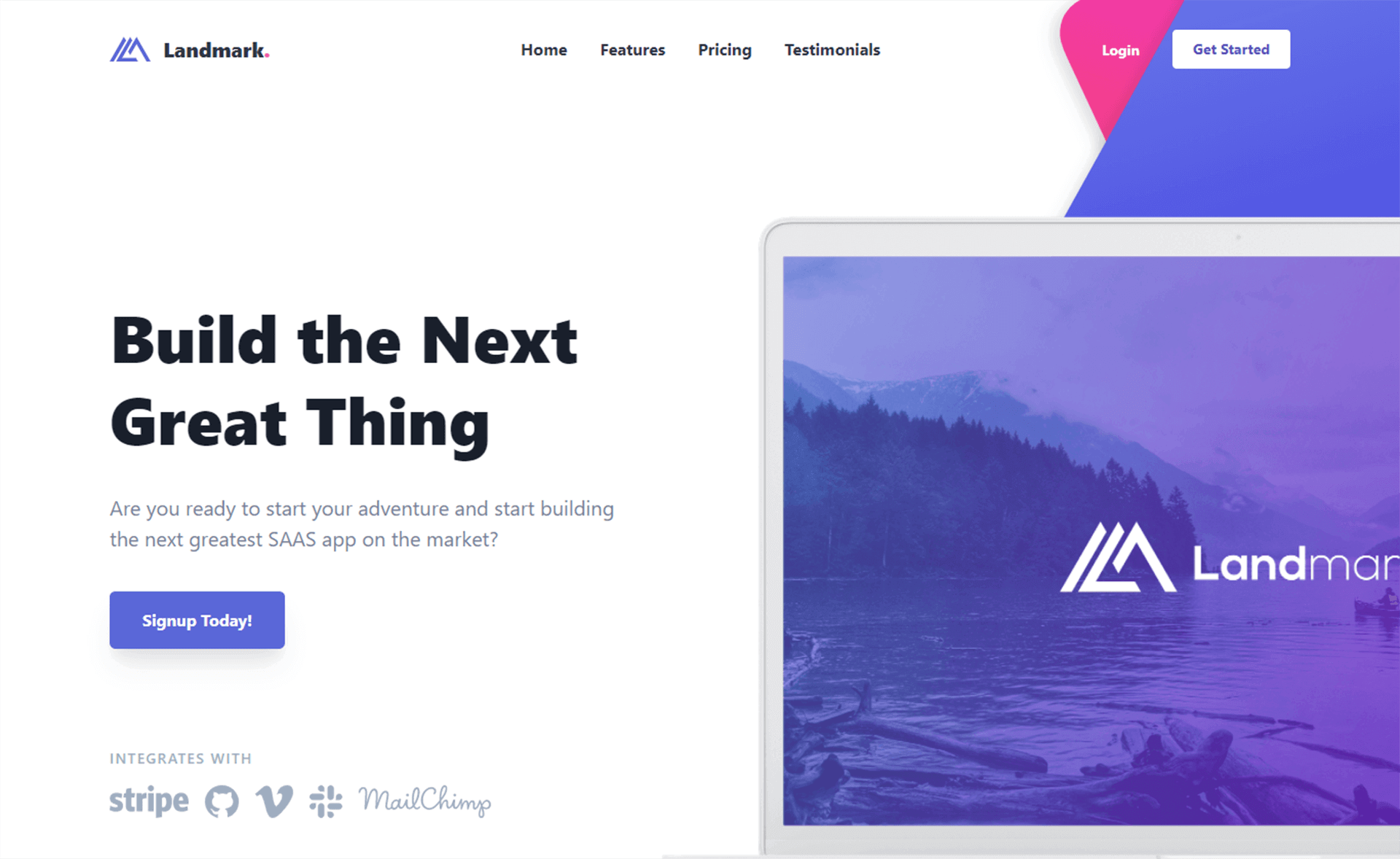 Free Tailwind CSS Landing Page Website Template