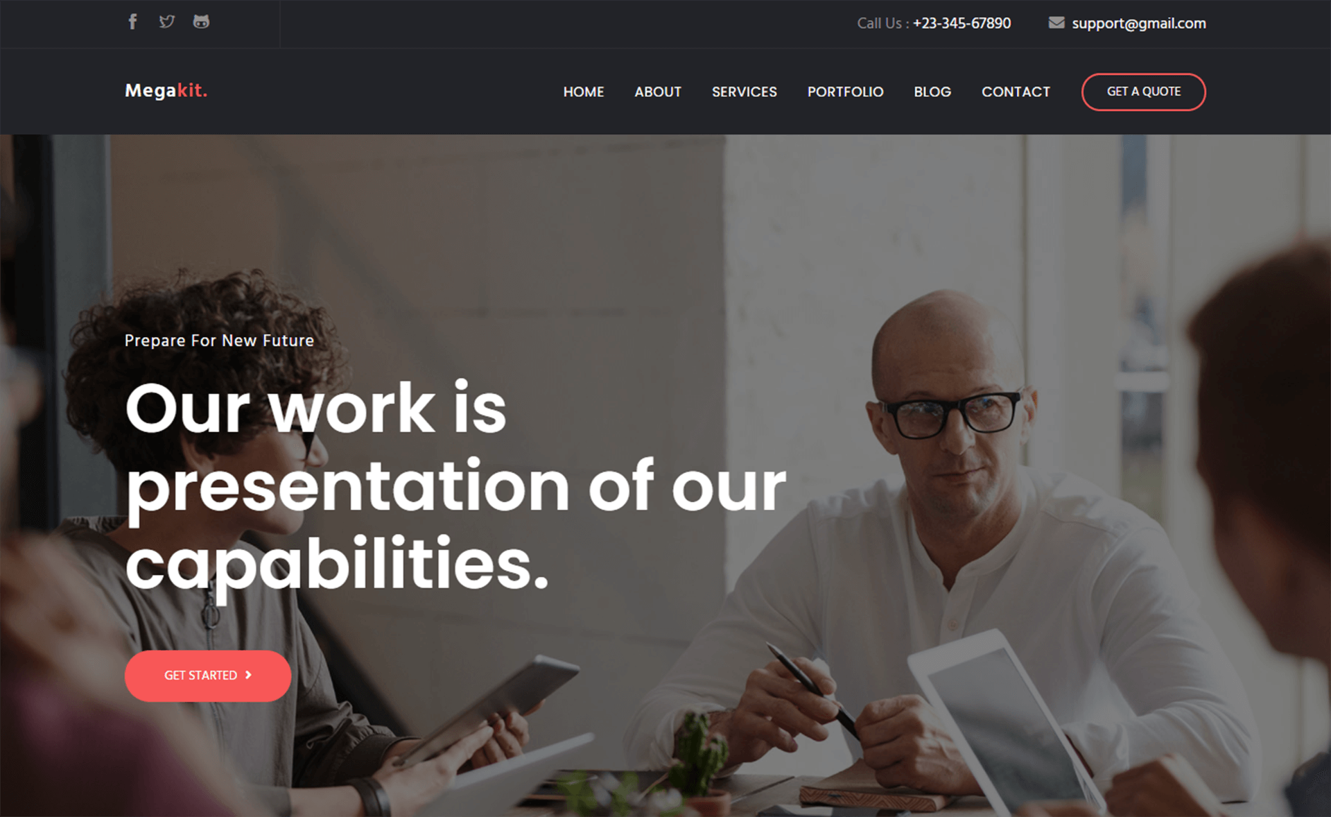 Free Bootstrap 4 HTML5 Business & Corporate Website Template
