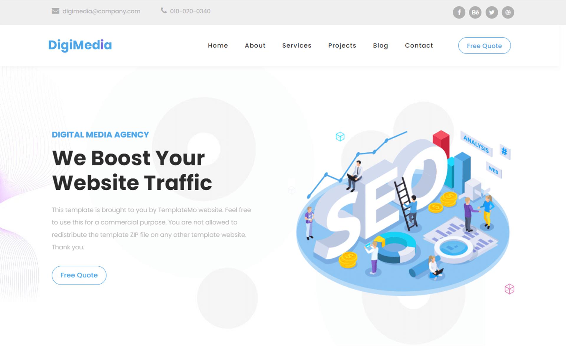 Free Bootstrap 5 HTML5 Digital Marketing Website Template