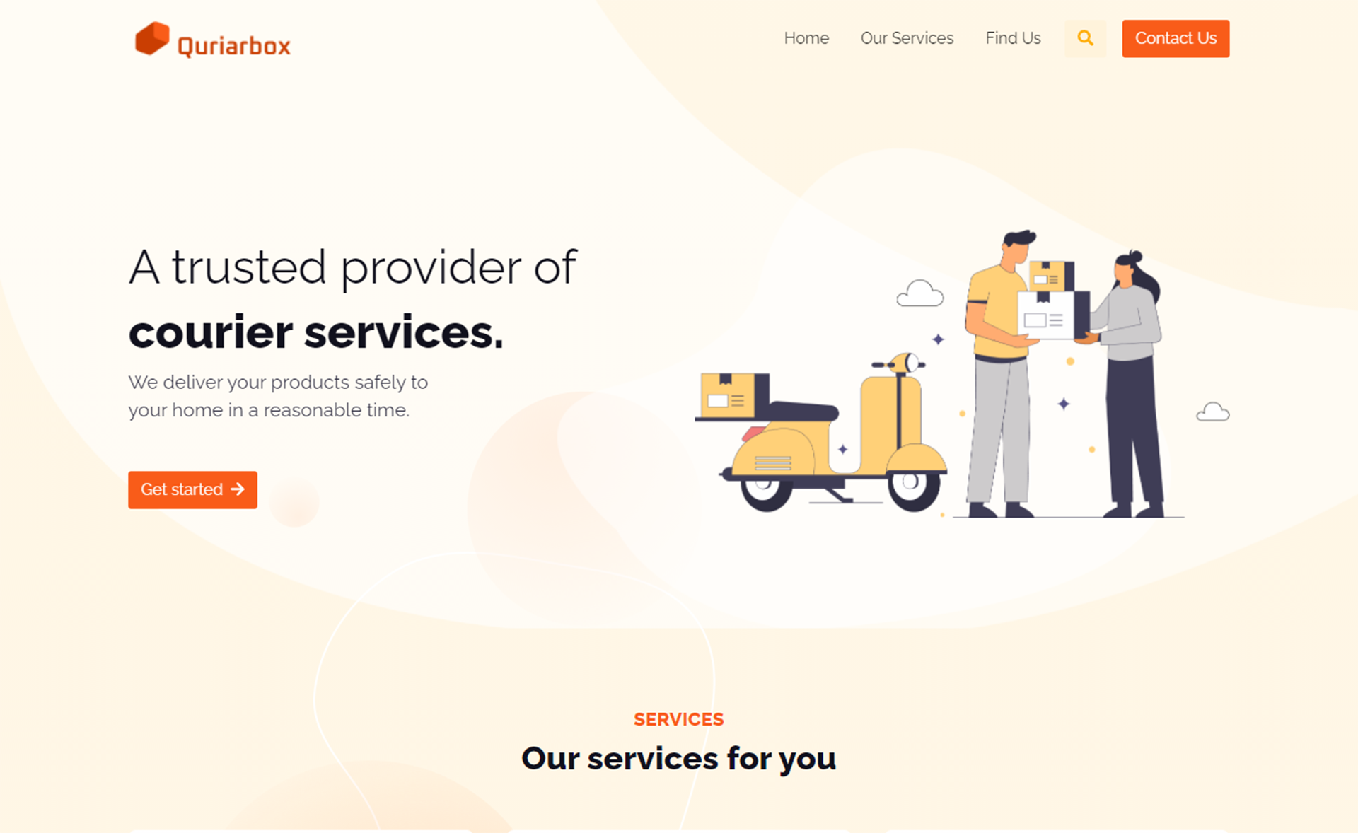 Free Bootstrap 5 HTML5 Courier Service Website Template